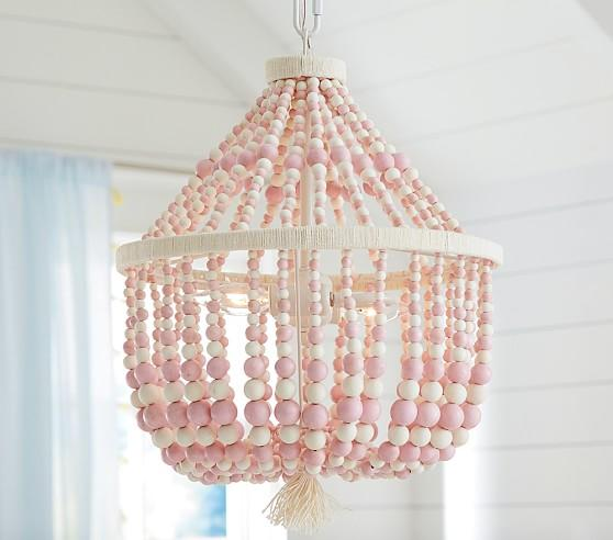 Lighting Soft White Wood Bead Mount