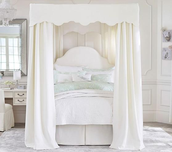 White Bedroom Canopy Home Design
