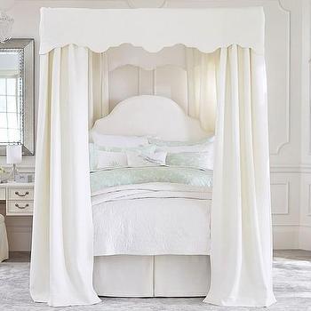 Callum 3 Drawer Weathered White Storage Canopy Bed