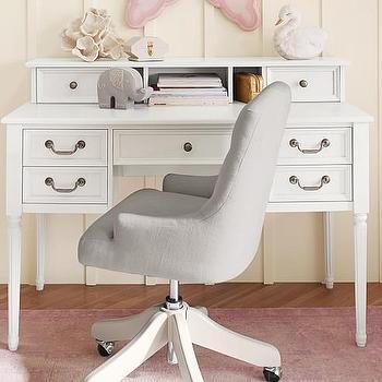 White Low Hutch Desk