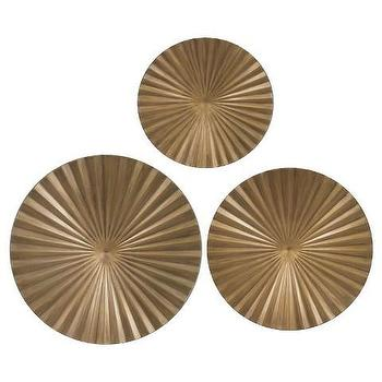 Gold Metal Radial Wall Decor Part 90