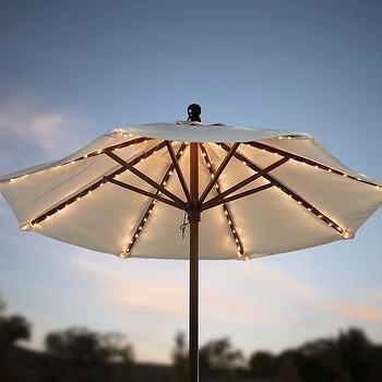 Target Umbrella String Lights : Ivory and Navy Geometric Edge Market Umbrella