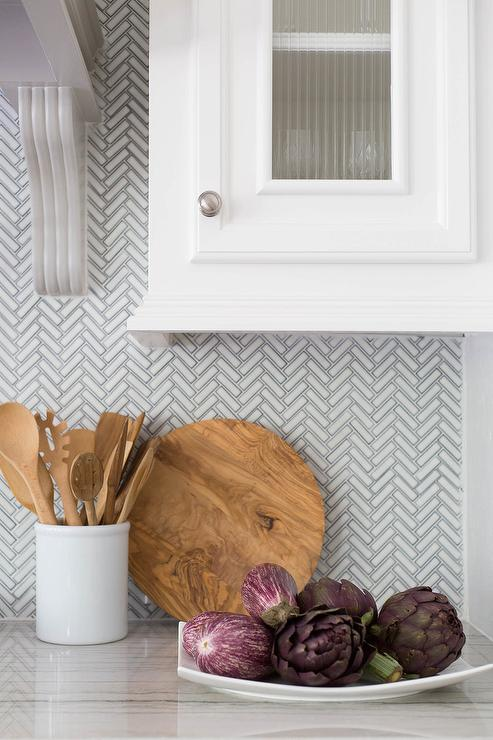ann sacks savoy mosaics herringbone tile in ricepaper