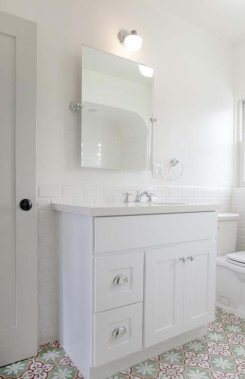 Green Bathroom Vanity Contemporary Bathroom Sarah