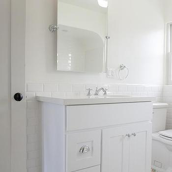 Half Painted Bathroom Walls Design Ideas