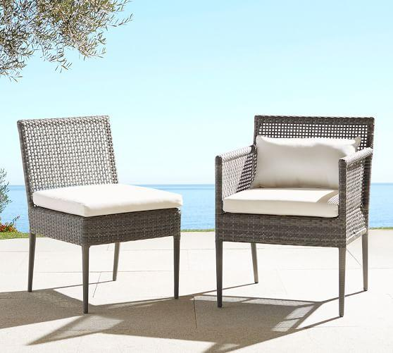 Gray all weather wicker dining chairs for All weather garden chairs
