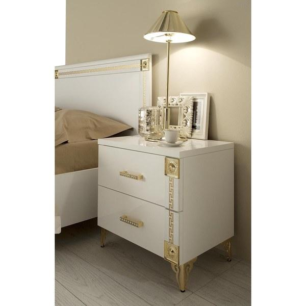 Victorian Gold And White Nightstand View Full Size