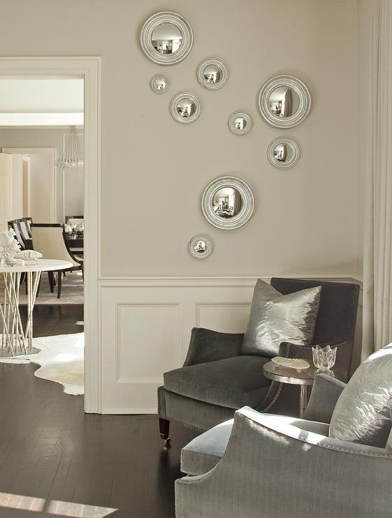 view full size chic living room - Silver Living Room Walls
