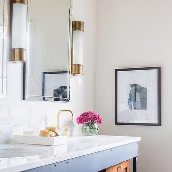 Gold and black bathroom sconces design ideas for Black sconces for bathroom