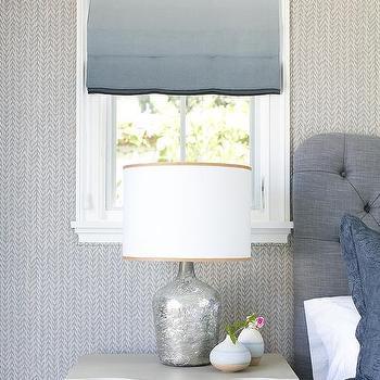 Blue Tufted Headboard Contemporary Bedroom Capella