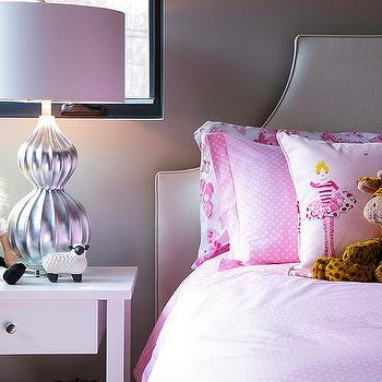 Pink And Gray Teen Girl Bedroom With Pink Flamingos