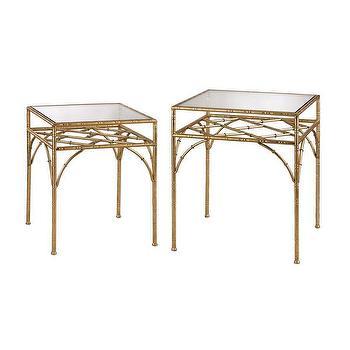 Golden Bamboo Tiered Shelf