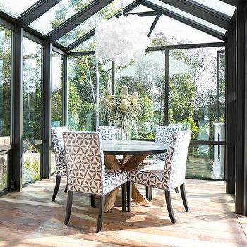 sunroom dining room with vaulted glass ceiling. beautiful ideas. Home Design Ideas