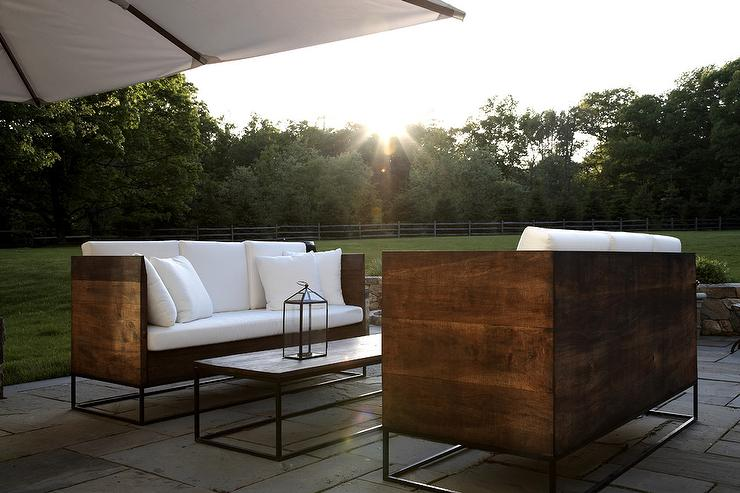 Face To Face Reclaimed Wood Outdoor Sofas