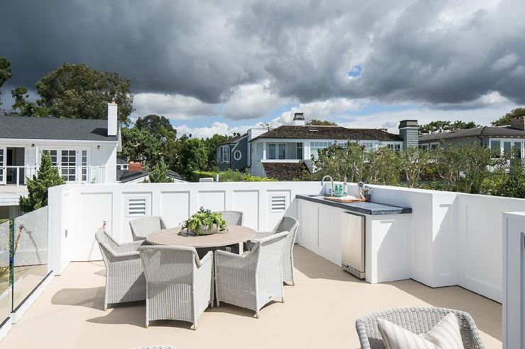 Rooftop Deck Kitchen Refrigerator Design Ideas