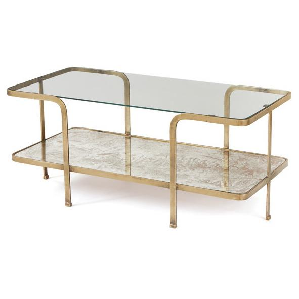 Gold Vintage Rounded Corners Coffee Table
