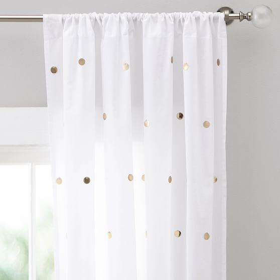 Nate Berkus Metallic Gold And Cream Curtain Panel