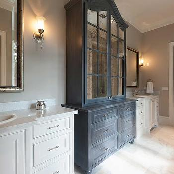 distressed wood bathroom cabinets design ideas