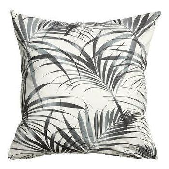Coral Pink Leaves Patterned Cushion Cover