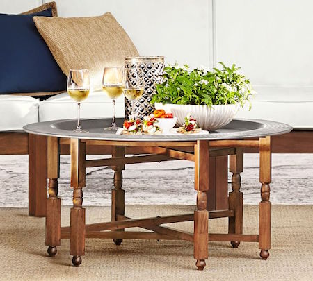 Brilliant Moroccan Tray Coffee Table Look 4 Less And Steals And Deals Theyellowbook Wood Chair Design Ideas Theyellowbookinfo
