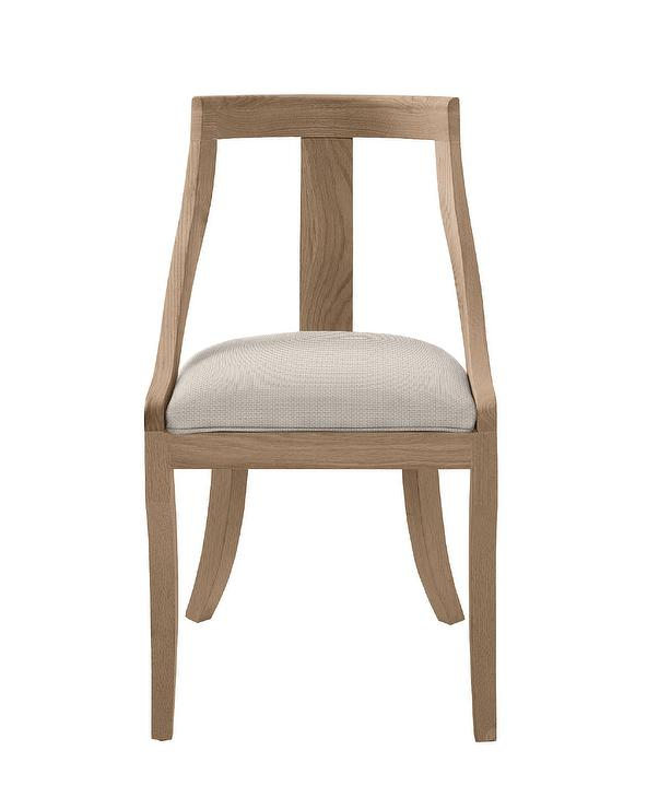 brown wooden ivory cushion chair