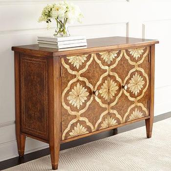 Kiran Faux Inlay Cabinet Living Room Furniture