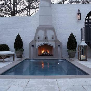 In Ground Pool Fountain Design Ideas
