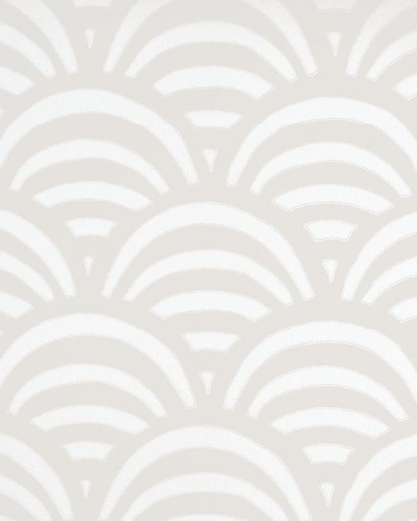 Beige And White Maidenhair Wallpaper