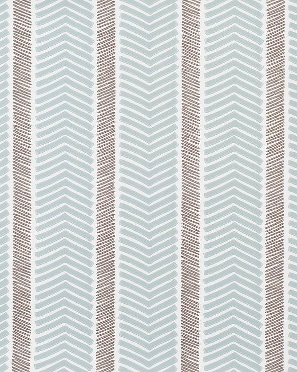 Blue And White Herringbone Wallpaper