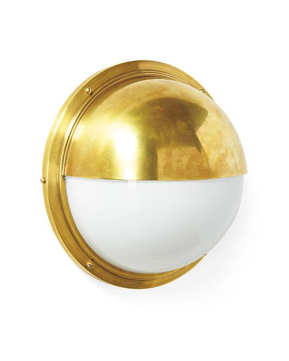 Nautical Inspired Gold Round Sconce