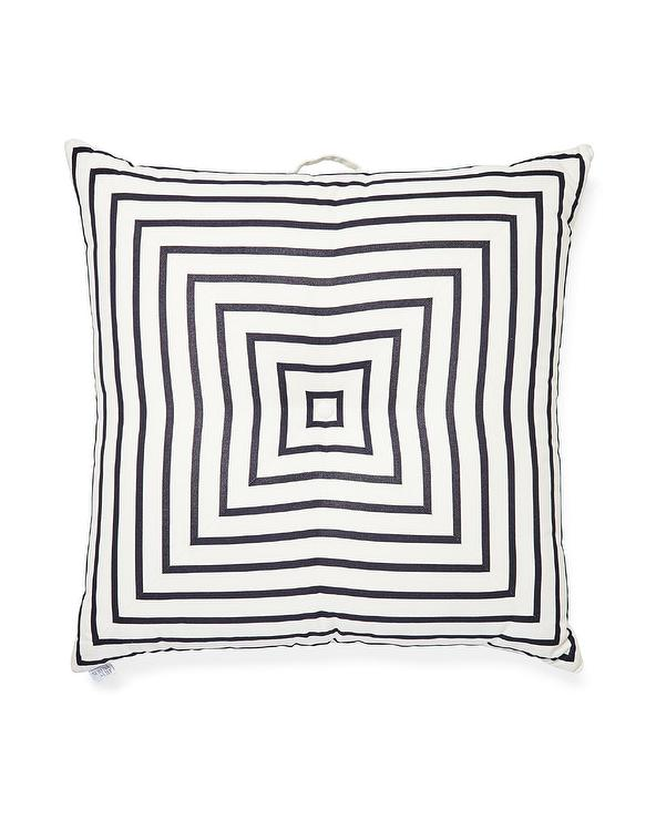 Black and White Squares Floor Pillow