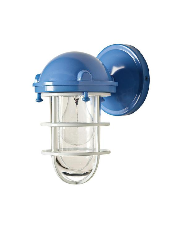 Blue Steel Cage Sconce