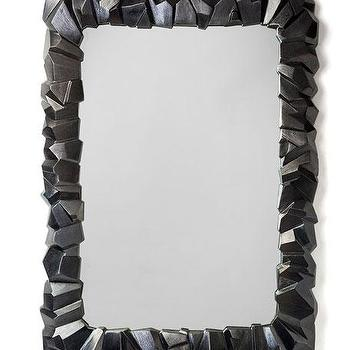 black rock frame mirror
