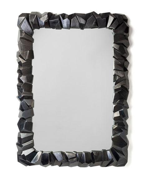 black rock frame mirror