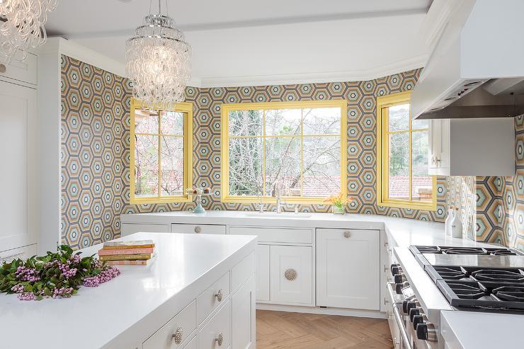 Hexagonal Kitchen Tiles Design Ideas