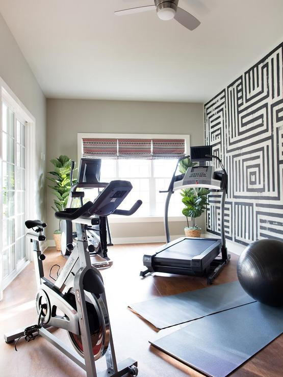 Basement gym contemporary toronto interior