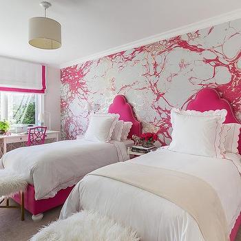 Hot Pink Wall Paint Design Ideas