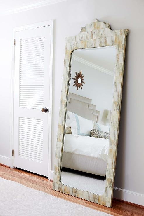 Bone Inlay Full Length Bedroom Mirror - Transitional - Bedroom