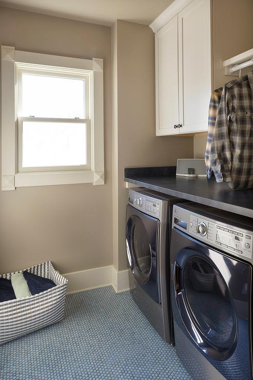 Light Blue Laundry Room Paint Colors Transitional
