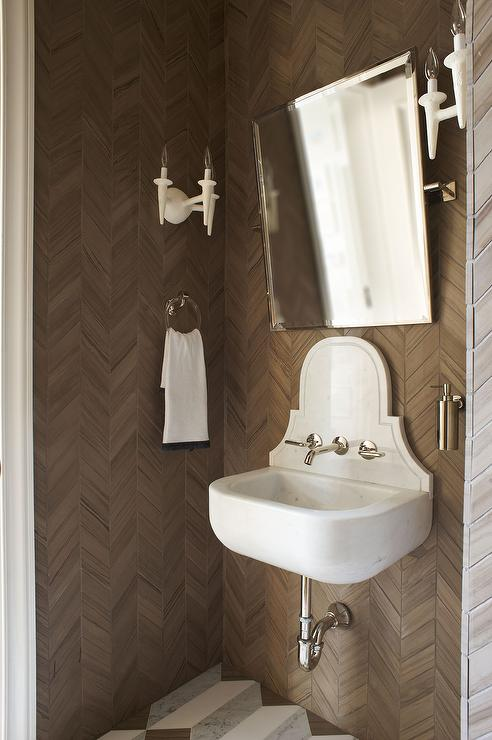 Java Java Wallpaper Contemporary Bathroom Lonny Magazine