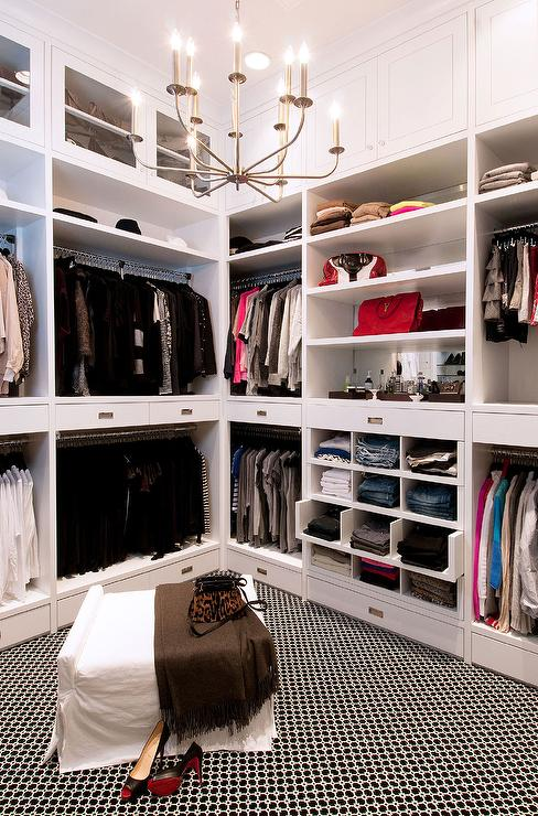 Walk In Closet With Pull Out Jean Shelves