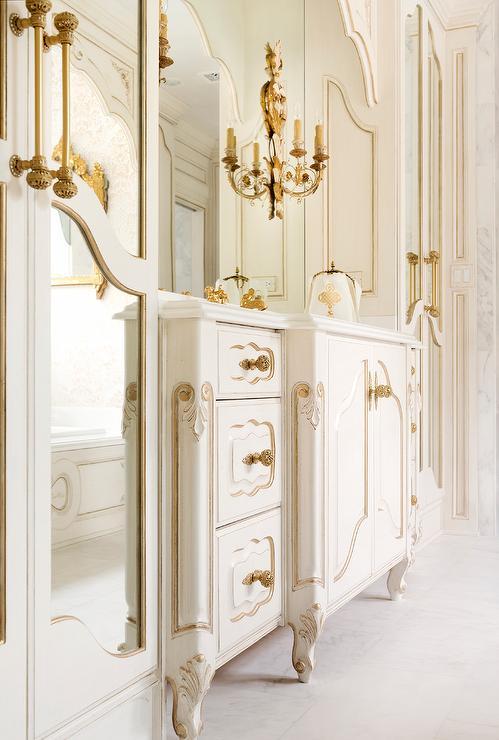 White French Bathroom Sconces Design Ideas