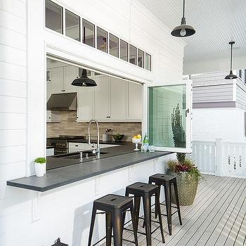 Superieur Kitchen Pass Through With Folding Glass Windows