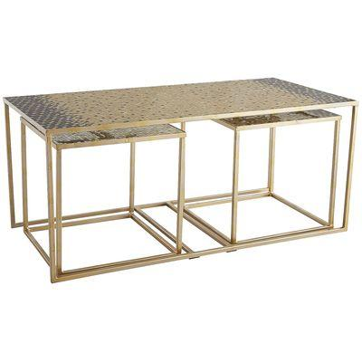 Gold Mosaic Coffee Table Set