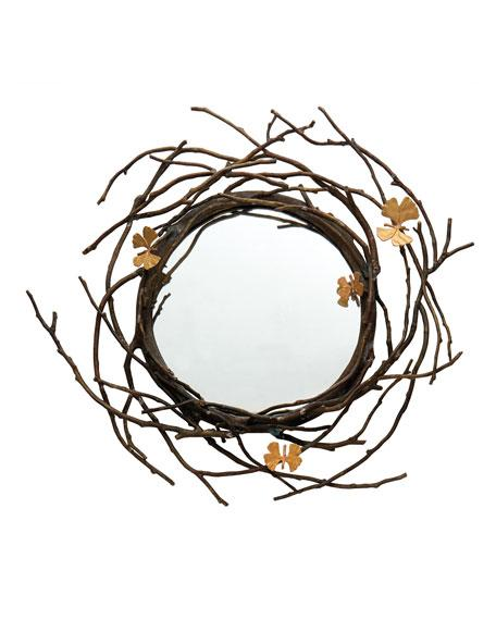 Uttermost Sequoia Gold Tree Branch Decorative Mirror