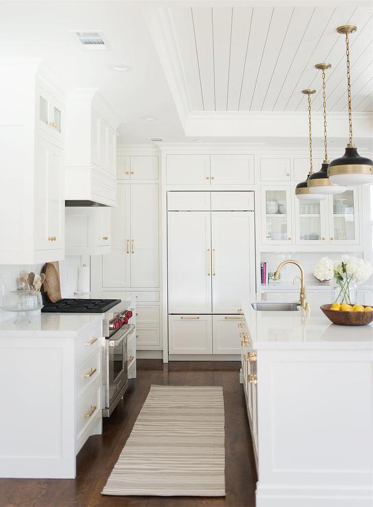 Kitchen Tray Ceiling With Shiplap Trim