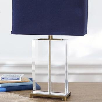 Superb Clear Acrylic Navy Shade Lamp