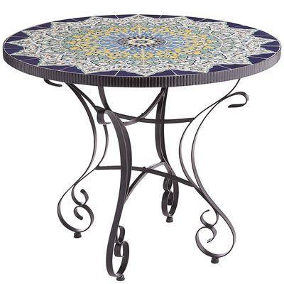 Round Mosaic Blue Dining