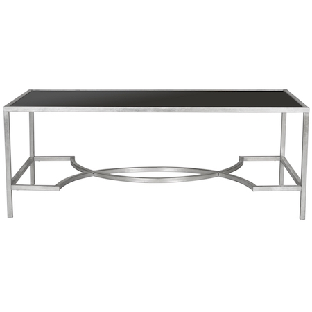 Safavieh Inga Silver Tempered Glass Top Coffee Table