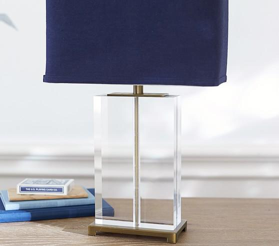 Clear Acrylic Navy Shade Lamp
